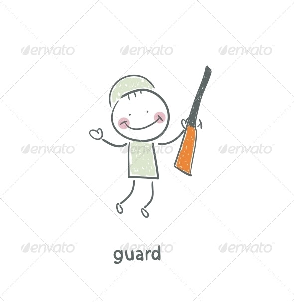 Guard. - People Characters