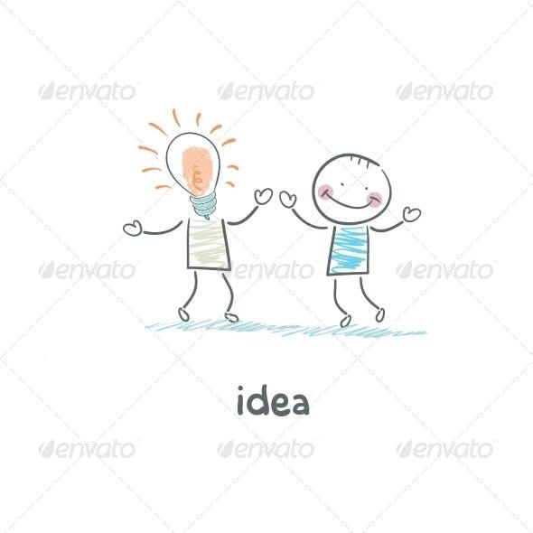 Friendly Idea. Illustration