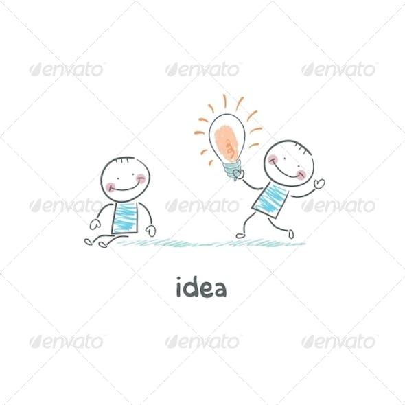 Exchange Bulbs. Concept Ideas.