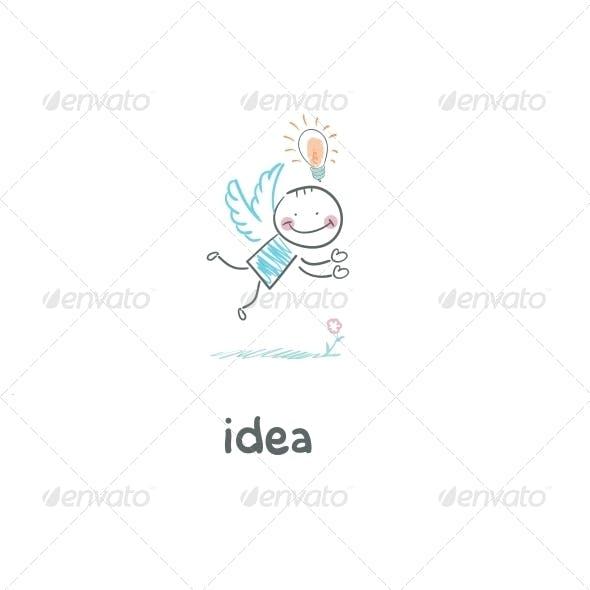 Flight of Ideas. Illustration.