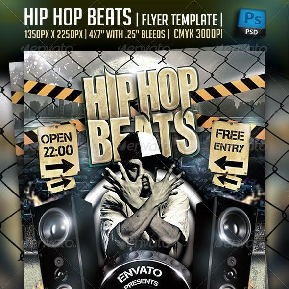 Hip Hop Beats Flyer Template