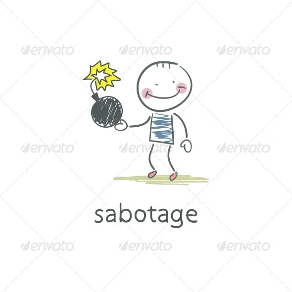 Sabotage. Illustration