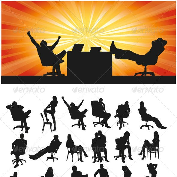 Sitting Silhouettes