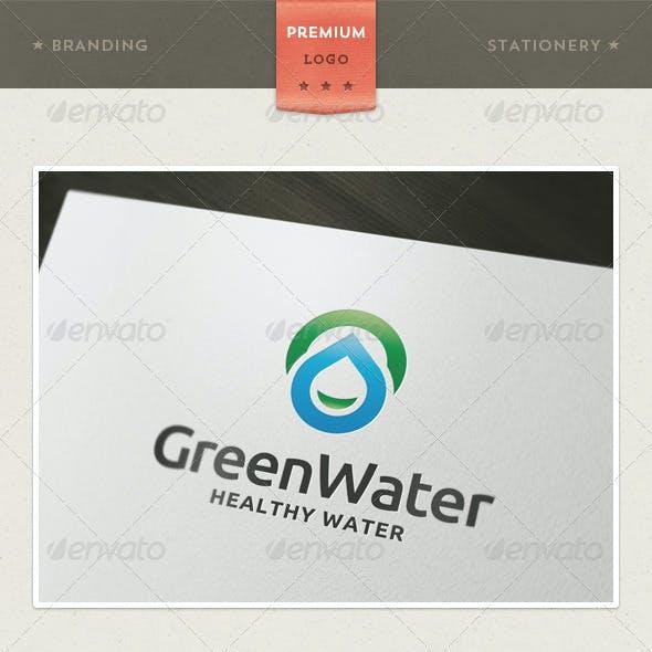 Green Water Logo Template