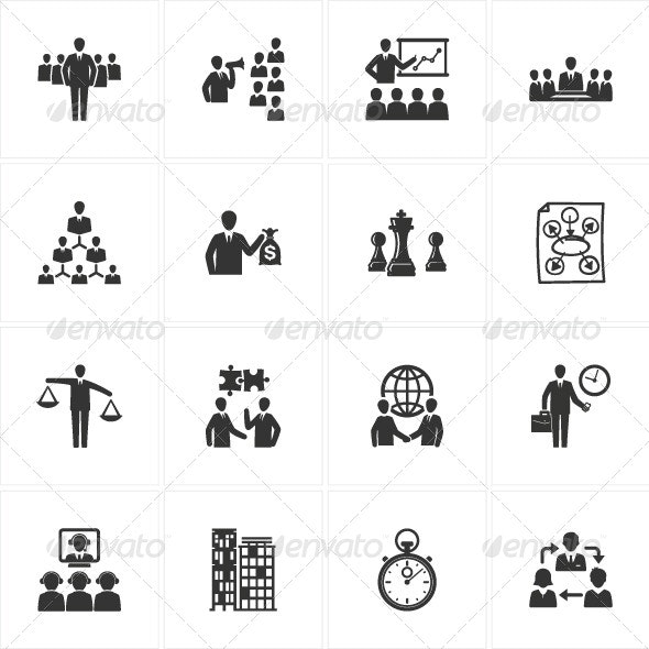 Management and Business Icons - Business Icons
