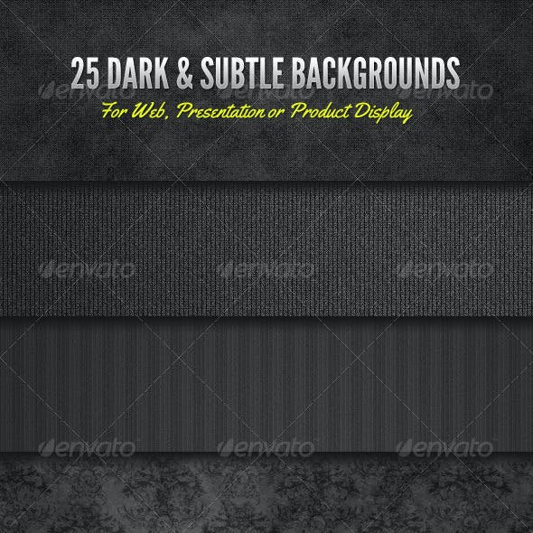 Dark and Subtle Background Textures