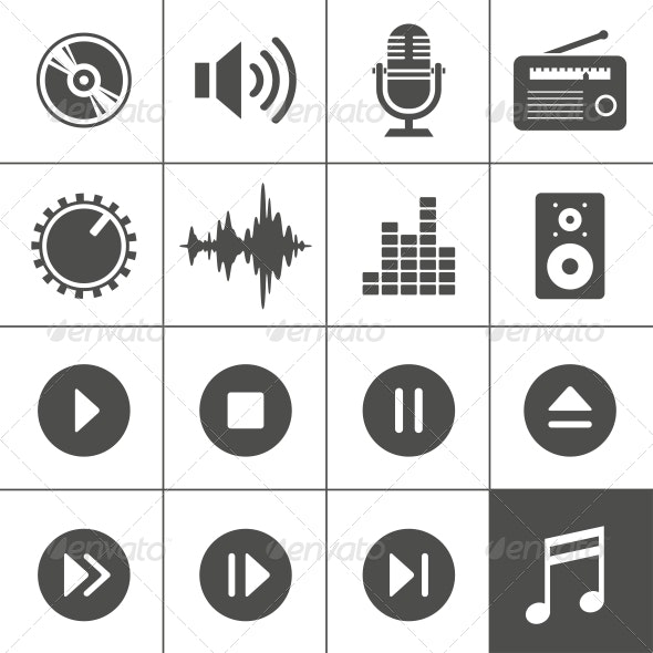 Music and Sound Icons - Sports/Activity Conceptual