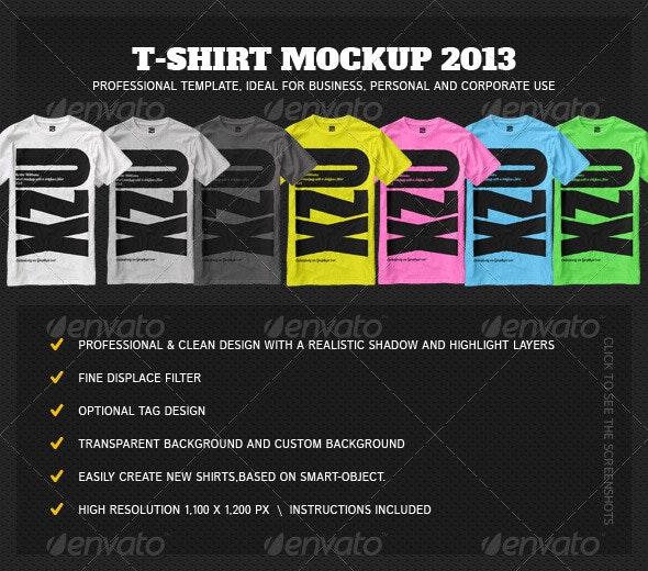 T-Shirt Mock Up 2013 - T-shirts Apparel