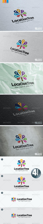 Location Tree - Nature Logo Templates