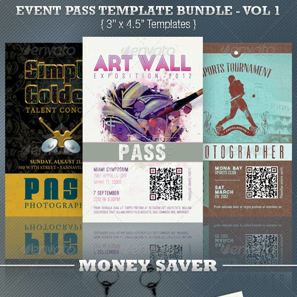 Event Pass Template Bundle Volume 1