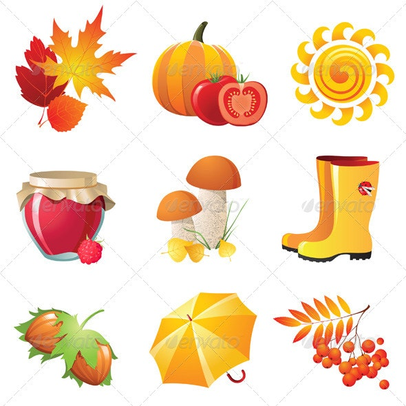 Autumn Icons - Seasons Nature