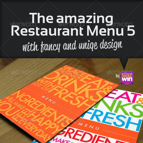 The Restaurant Menu 5