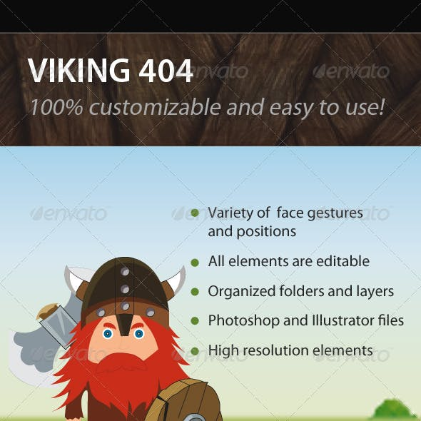 Viking 404 Error Pages