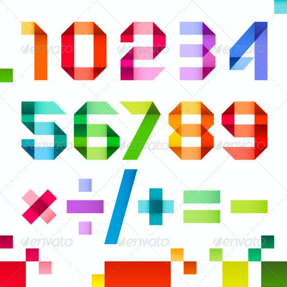 Spectral Numbers Folded of Ribbon Colored Paper