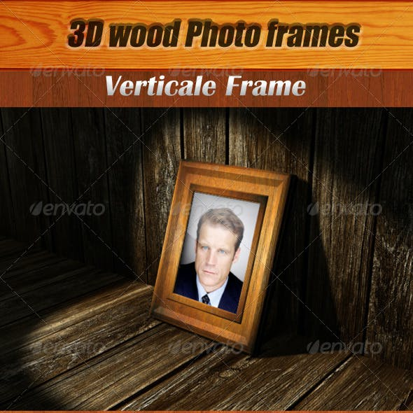 Wood Photo Frames PSD Template