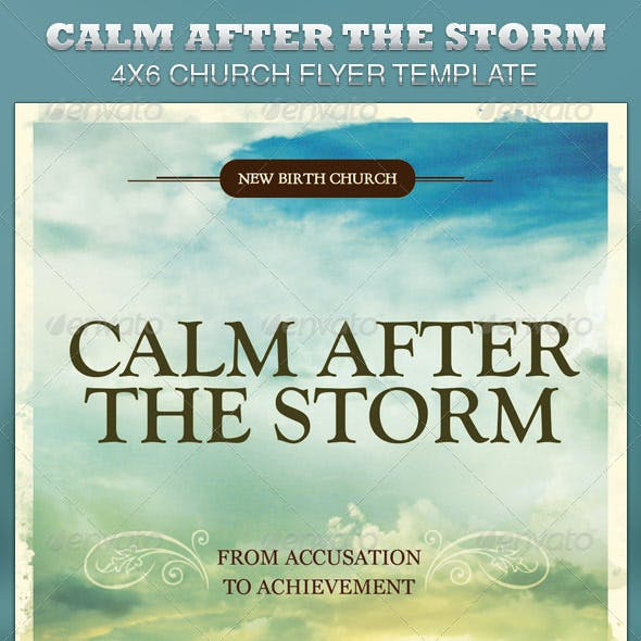Calm After the Storm Church Flyer Template