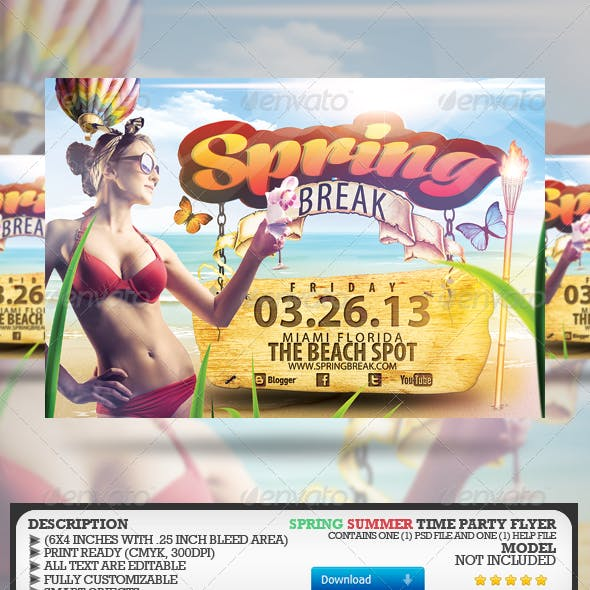Spring/Summer Party Flyer