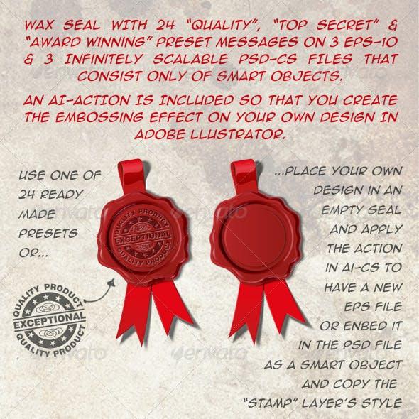 24 Wax Seals Top Secret Award Winner and Quality