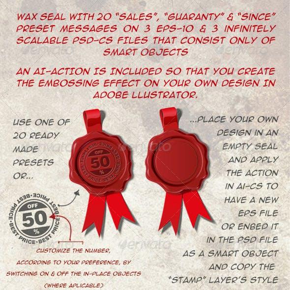 20 Wax Seals Sales and Guarantee