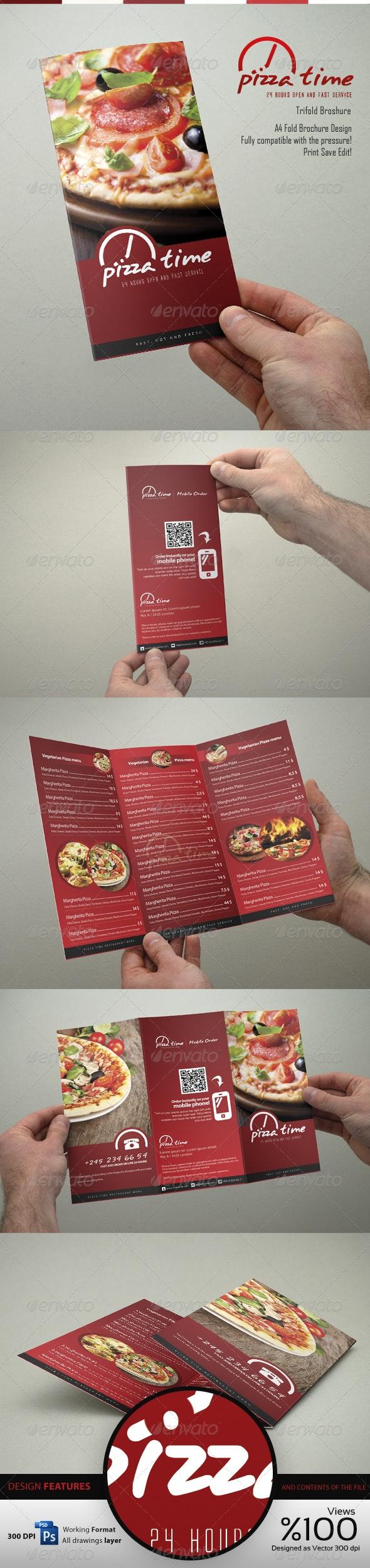 Food Menu Trifold Broshure V1 - Brochures Print Templates