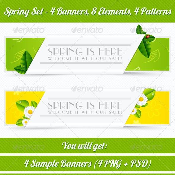 Spring Banner Set