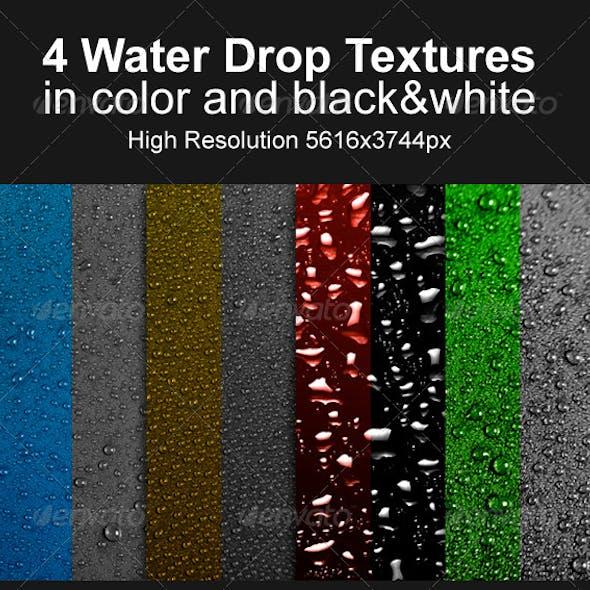 4 Water Drop Textures