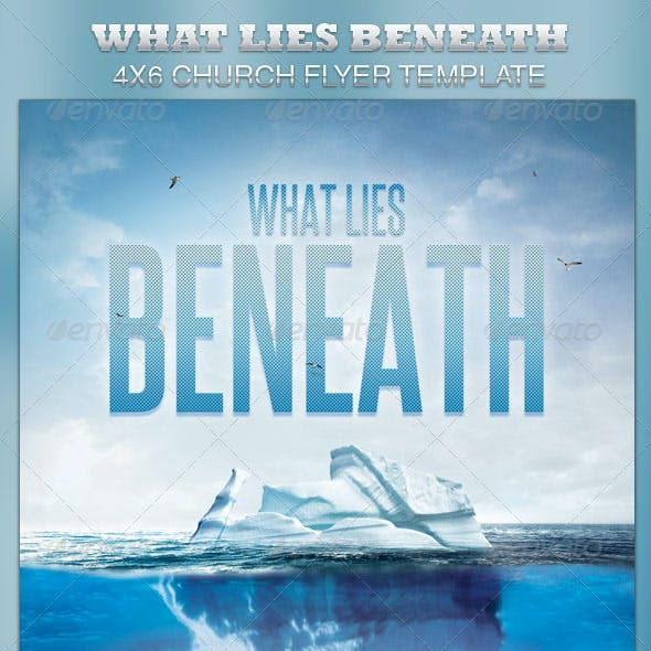 What Lies Beneath Church Flyer Template