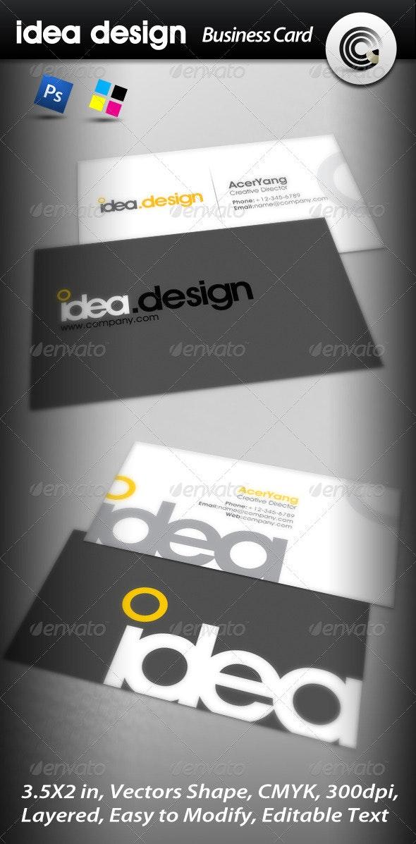 Idea Design Business Card - Corporate Business Cards