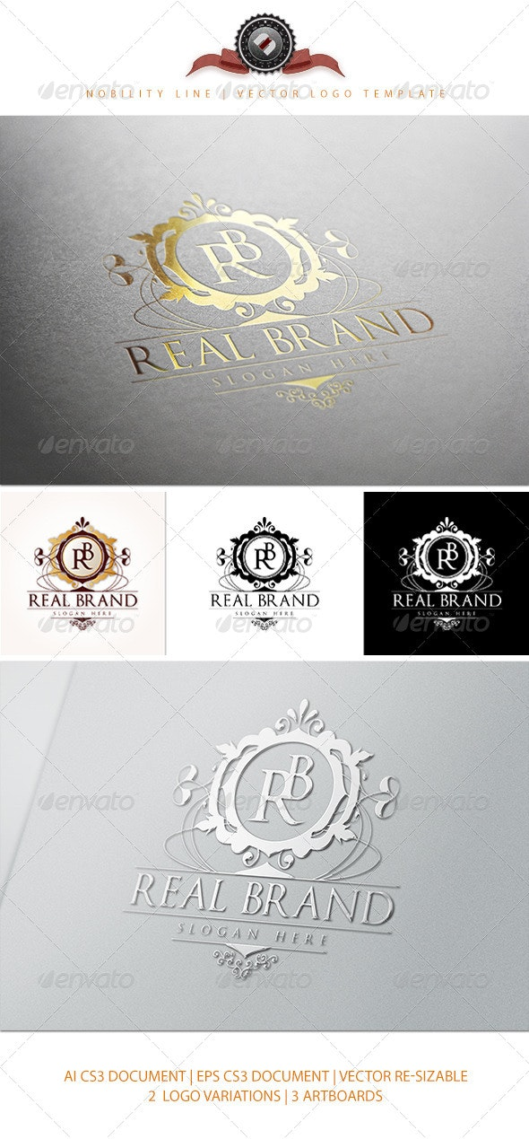 RealBrand Logo Template - Crests Logo Templates