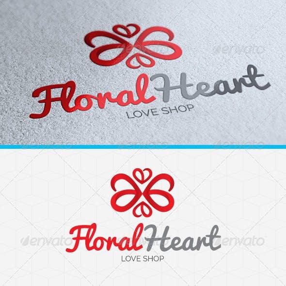Floral Heart Logo Template