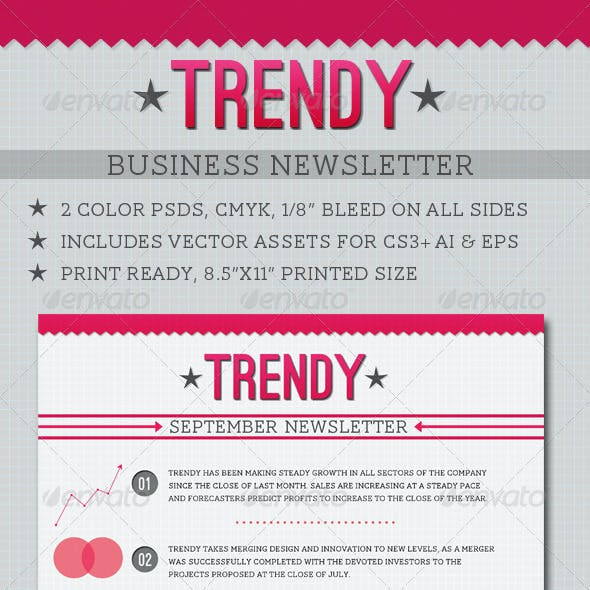 Trendy Business Newsletter