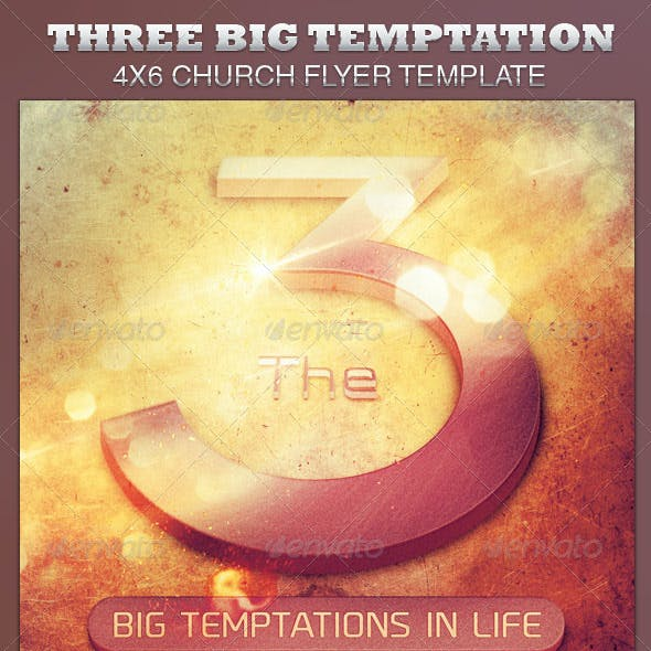 The Three Big Temptations Church Flyer Template