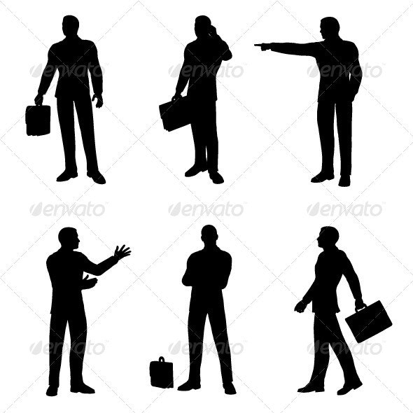 Business Man Silhouette Pack - Business Conceptual