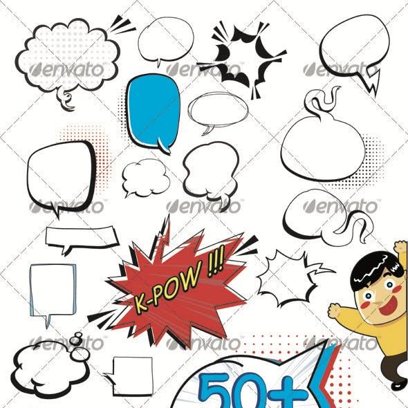 50+ Speech Bubbles
