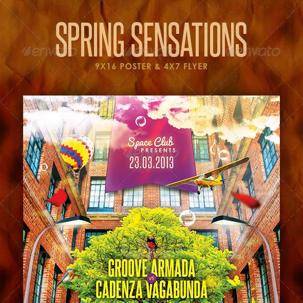 Spring Sensations Poster and Flyer