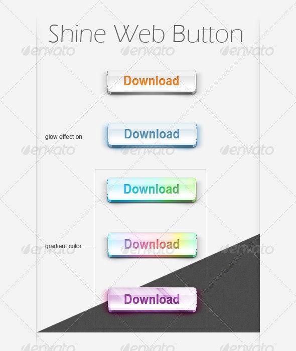 Shine Web Button - Buttons Web Elements