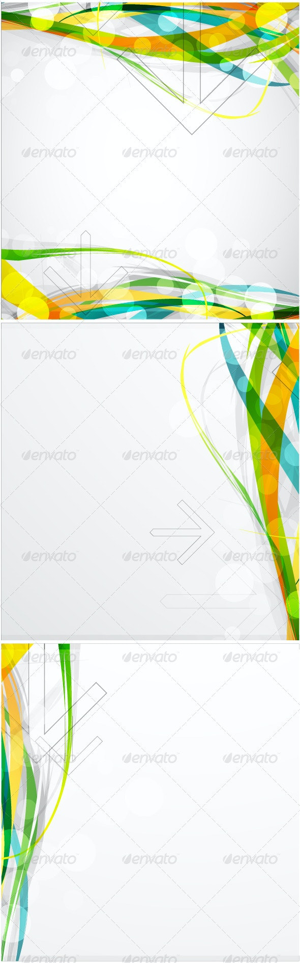 Colorful waves - Backgrounds Business