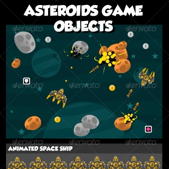 Asteroids Game Objects
