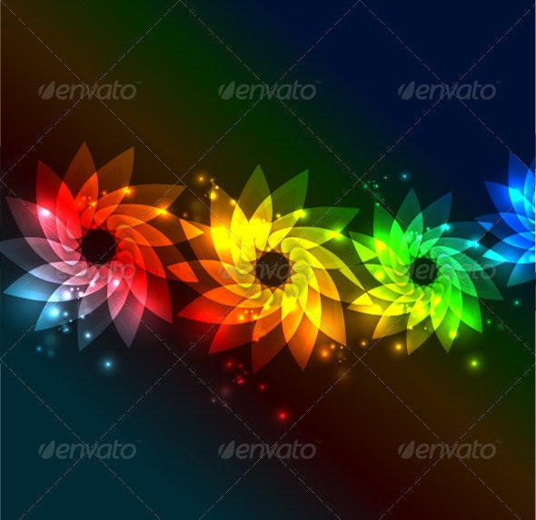 Floral shiny abstract background - Flowers & Plants Nature