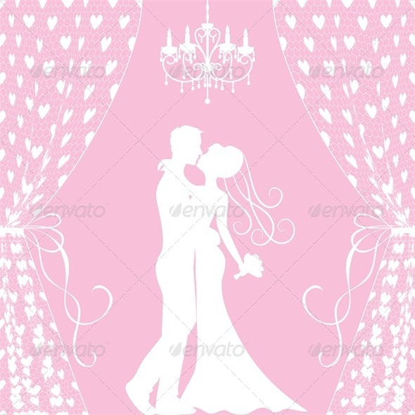 Wedding Card - Groom and Bride