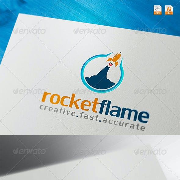Rocket Flame Creative Fast Accurate Logo