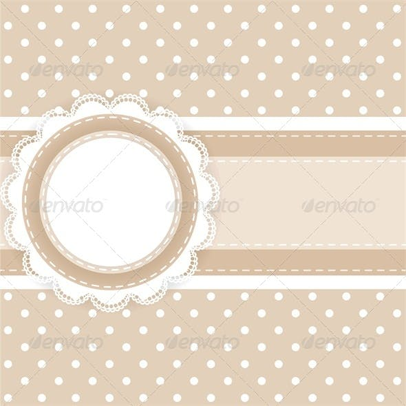 Scrapbooking Card with Lace and Ribbon