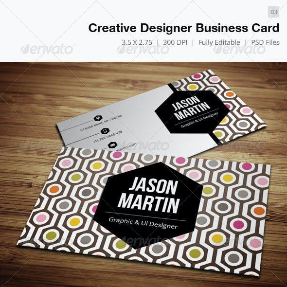 Compre sua arte para Cartão de Visita Creative designer-03 personalizado