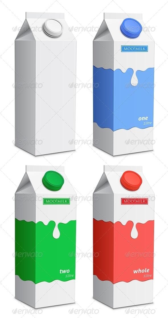Milk Carton with Screw Cap - Food Objects