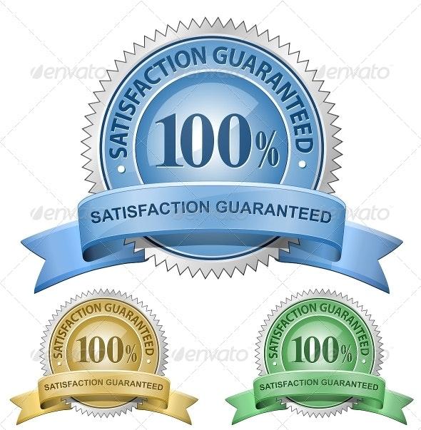 100% Satisfaction Guaranteed Signs - Decorative Symbols Decorative