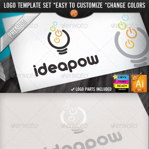 Computer Electronics IT Business Idea Power Logo