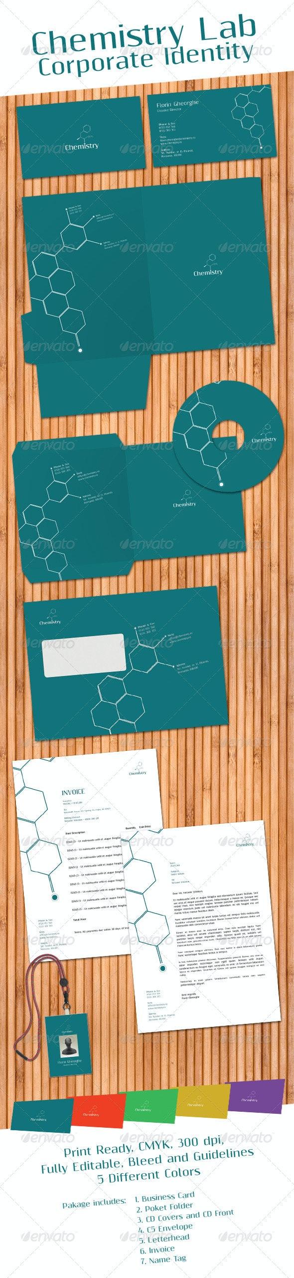Chemistry Laboratory Corporate Identity - Stationery Print Templates
