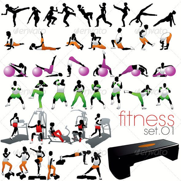 Fitness Silhouettes Set