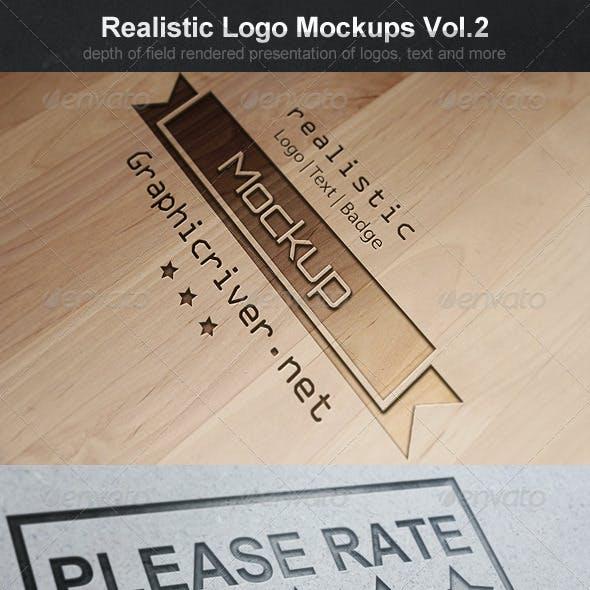 Realistic Logo Mockups Vol.2