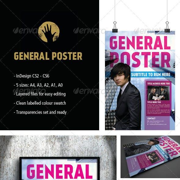 General InDesign Poster Pack